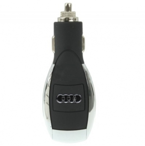 dPL USB Car Charger Powerfull Multi-Voltage AUDI Black/Silver