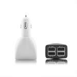 4 USB Port Car Charger White