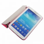 BASEUS Folio Stand Case Rose Red for Samsung Tab 3 7.0