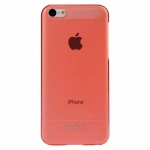 BASEUS UItra-thin Case Red/Transparent for iPhone 5C