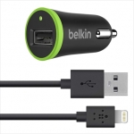 Belkin USB MicroCharger 12V + LIGHTNING cable 8 pin, Black (F8J078bt04-BLK)