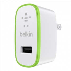 Belkin USB Micro Charger 220V + LIGHTNING cable 8 pin, White (F8J052vf04-WHT)