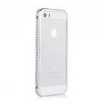Diamond Crystal Bumper Silver for iPhone 5/5S