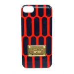 Hard Case Michael Kors Design Blue with Orange honeycomb for iPhone 5/5S