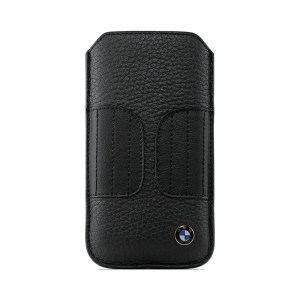 CG Mobile BMW Leather Sleeve Case Kidney Shape Black for iPhone 5/5S (BMPOP5LK)