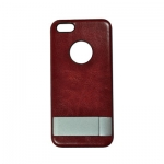 Moshi Ultra-thin Protect Case with Bracket & LOGO Hole Wine red for iPhone 5/5S