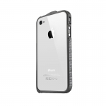 NewSH Swarovski design Bumper Case Diamond Aluminum Black for iPhone 4/4S