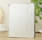 New Case PU-Leather Transformers Case White for iPad 2/3/4
