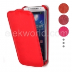 Smooth Sheepskin Texture Vertical Flip Leather Case Wine Red (WP07011103) for Samsung Galaxy S4