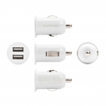 Capdase Dual USB Car Charger Pico G2 White (1 A) for iPhone/iPod/iPad mini/Smartphone (CA00-PG02)