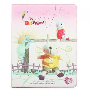 Metoo Hard Case Two Rabbits & Sun for iPad 2/3/4