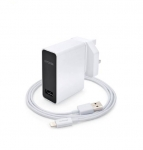 Capdase USB Power Adapter&Cable Ampo K1 Lightning World Plug White (2.4 A) (TKCB-A402)